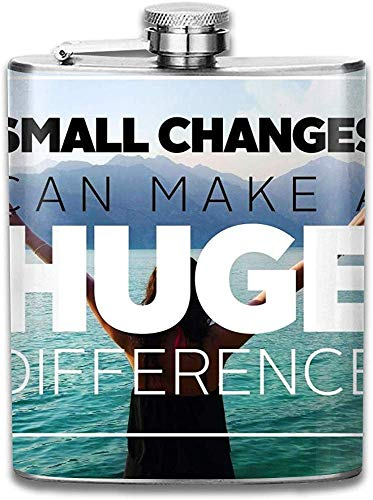 Pequeños cambios personalizados pueden marcar una gran diferencia Botella de vino de acero inoxidable, regalo personalizado de frasco