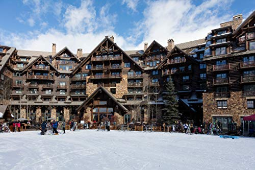 24 x 36 Giclee Print ofSkating Rink at The Ritz-Carlton Bachelor Gulch Luxury Hotel in The Beaver Creek Resort Area of Avon Colorado west of Vail p26 2016 Highsmith