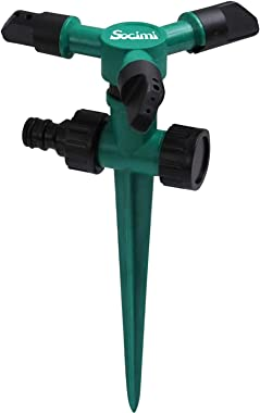 Lawn Sprinkler for Yard, Rotating Garden Sprinklers with Up to 3,000 Sq. Ft Coverage, Adjustable Sprayers for Outdoor Automatic Watering System, 360 Degree Sprinkler Large Area with Leak-Proof