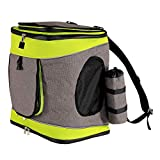 dibea RS10081 Hunderucksack Hundetransporttasche Haustiertragetasche Farbe grau/grün, grau/grün