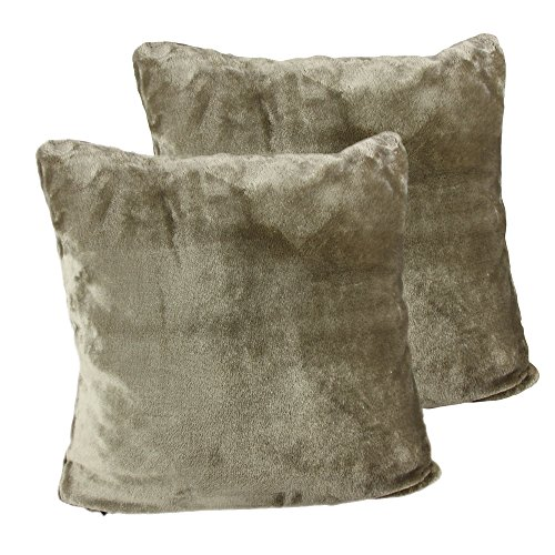 Amago Funda de Cojín, Set de 2, Sensación de Cachemira, 50 x 50 cm, Marrón Topo, 40132-71-A2