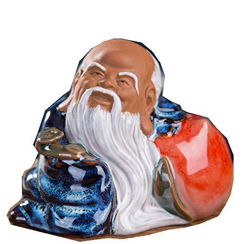 PRDECE Decoración de cerámica, Escultura de Personajes, Muebles Chinos para el hogar, Sala de Estar, Sala de Estudio, Armario de TV, Regalos para Ancianos, Shou Xing Gong