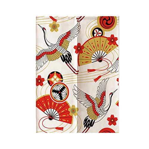 FR&RF Japanischer Stil dekorative Vorhänge Küche Restaurant rauchfest halbhohe Trennwand Baumwolle und Leinen Vorhänge, 2, 80*150