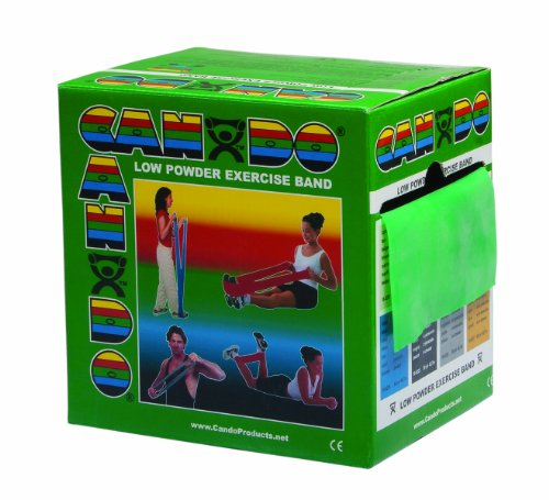 Trainingsband / Gymnastikband - Spenderbox, Länge 45 m -grün (medium)