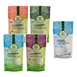 Grab Green Natural 3 in 1 Laundry Detergent Pods + Bleach Alternative 5 Piece Mini Sample Kit