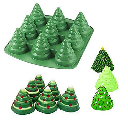 Bluelover 3D Weihnachtsbaum Kuchen Backform aus Silikon Backform Schokolade cotturacookie