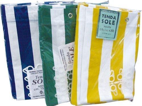 Auvent en toile de coton - 290x290 cm - Couleur: Blanc-Gris