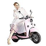 Très Chic Mailanda K-Way Femme Poncho-Pluie Capuche Imperméable Vêtement de Pluie Transparent (Rose)