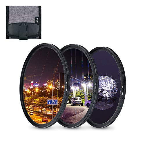 JJC - Filtro a stella da 77 mm (4 punti, 6 punti, 8 punti) con custodia protettiva per Canon Nikon Pentax Olympus Samsung Sony Panasonic Fujifilm DSLR