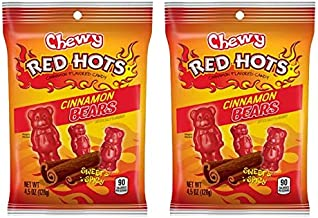 Red Hots chewy cinnamon Bears, sweet and spicy, 2 pack