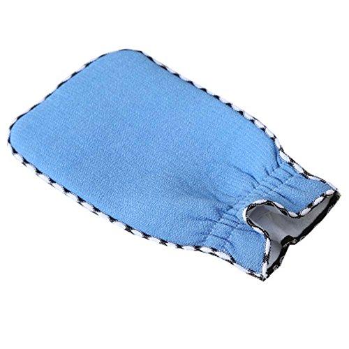 Douche Tissu Gants exfoliants bain Scrubber accessoires de salle de bains, B