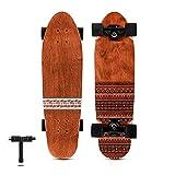 Magneto Mini Cruiser Skateboard Cruiser | Short Board | Canadian Maple Deck - Designed for Kids, Teens and Adults … (Tribal)