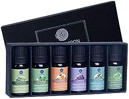 Lagunamoon Olio Essenziale, Top 6 Set di Olio Essenziale Aromaterapia di Lavanda, Eucalipto, Tea Tree, Menta, Citronella...