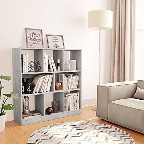 vidaXL Libreria/Credenza Scaffali Versatile Decorativa Mobiletto Arredo Casa Mensole a Giorno Espositore Grigio Cemento 97,5x29,5x100 cm in Truciolato