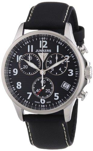 Junkers Herren-Armbanduhr XL Tante Ju Chronograph Quarz Leder 68902