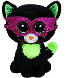 T.Y 41109 - Peluche Halloween (41109) - Peluche Beanie Boos Gato antifaz (15cm), Juguete Peluche Beanie Boos Primera Infancia A partir de 4 años , color/modelo surtido