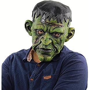 Qlan Novelty Halloween Costume Party Latex Hunam face Mask:Maskedking