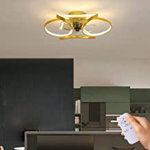 Moderne plafondventilatoren, ultradun ventilatorlicht met afstandsbediening, dimbaar, instelbare windsnelheid met 3 versne...