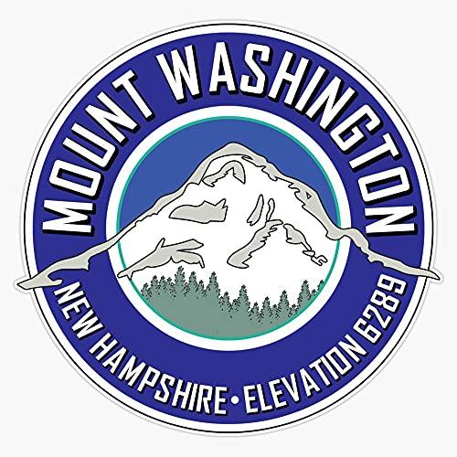 "STG Trading Mount Washington New Hampshire Mountain Climbing Hiking Explore Blue Vinyl Bumper Sticker Decal Waterproof 5"""