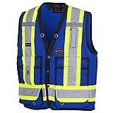 Pioneer V1010180-M Hi-Viz Surveyor's Safety Vest, Royal, M