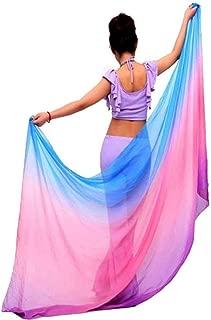 LXJZTC Seda imitada Novedad Gradiente Velo Chal Cara chal abrigoBufanda Mujeres Baile Vientre Traje de Bollywood