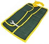 Werkzeugrolltasche aus Segeltuch mit 16 Fächern