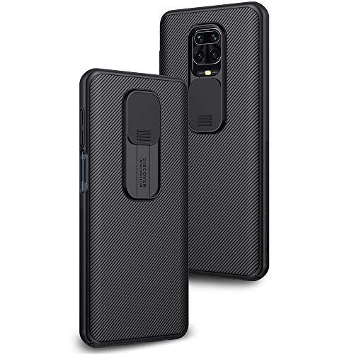 Funda para Xiaomi Redmi Note 9S / Note 9 Pro Protección de la cámara Carcasa Cubierta de cámara Deslizante Proteger Ultra-Delgado Híbrida PC Anti-Choque Anti-arañazos - Negro