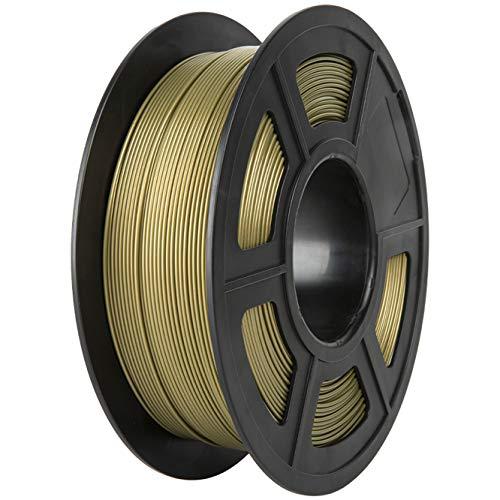 PLA Filament, PRINSFIL Filament PLA 1.75 mm, 3D Printing Materials for 3D Printer, 1 kg 1 Spool, Dark Gold
