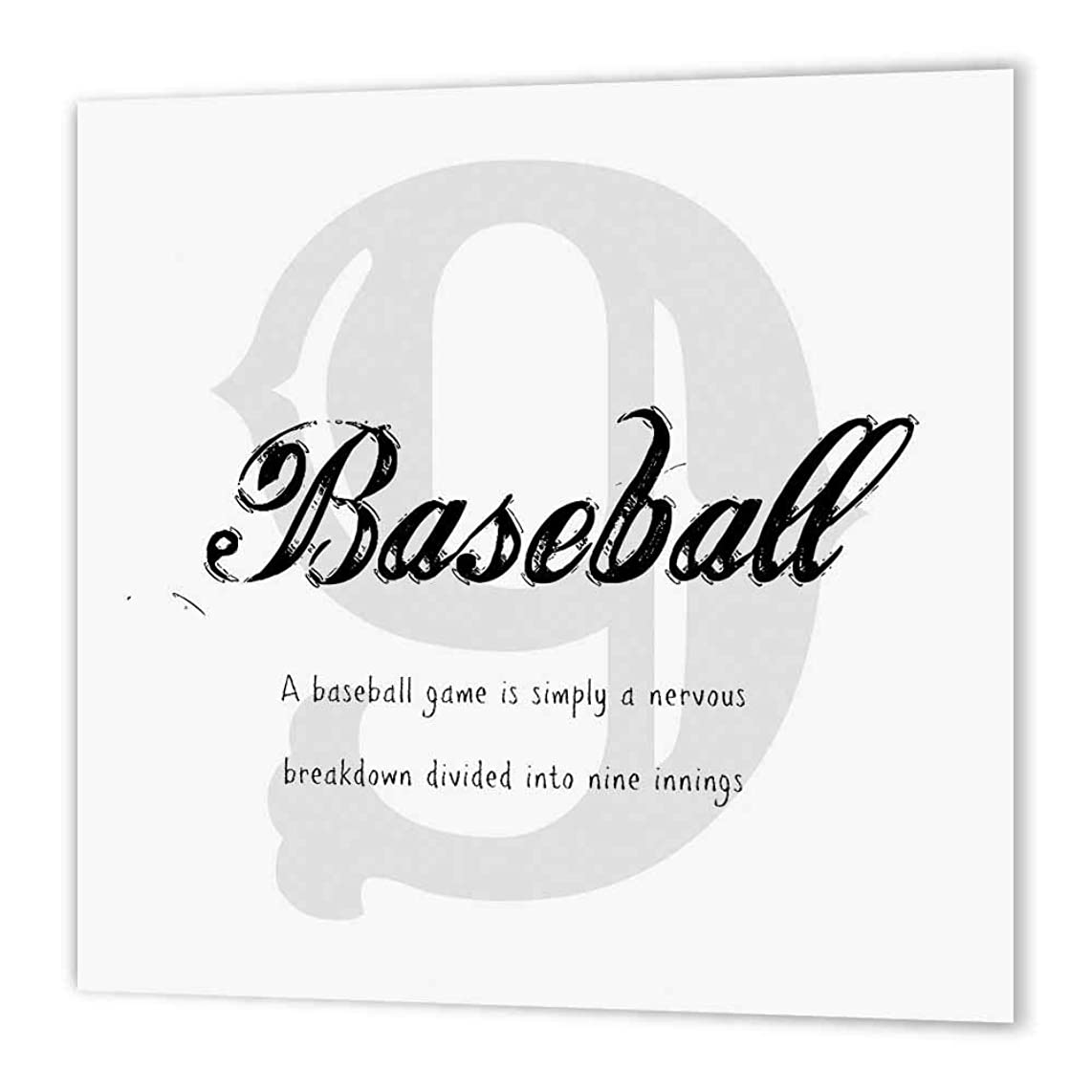 3dRose ht_180132_3 A Baseball Game is Simply Nervous Breakdown Broken Down into 9 Innings-Iron on Heat Transfer Paper for White Material, 10 by 10-Inch