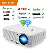 LED HD Video Projector Bluetooth Android 6.0 WiFi 3900 Lumens WXGA, 200' LCD Home Cinema Theater Projector 1080P HDMI VGA USB AV TV for Indoor Outdoor Movie TV Gaming Phone Laptop Firestick DVD PS4