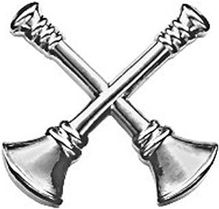 First Class Fire Department Bugle Captain 2 Rank Collar Lapel Pin Insignia (Pair)