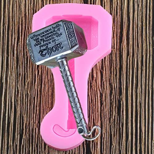 VIOYO 3D Thor Hammer Silicona Cupcake Topper Fondant Baby