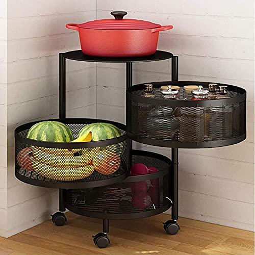 Rack de almacenamiento - Cocina Rotación de vegetales Rack de pie MULTI-CAPA MULTI-CAPA DE COCINA DE COCINA DE COCINA, Estante de almacenamiento para el hogar para la cocina Aseo de la sala de estar (