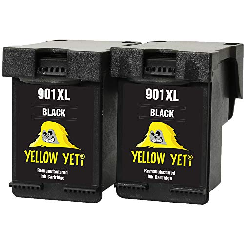 Yellow Yeti Remanufacturados 901XL 901 XL Cartuchos de Tinta Negro para HP OfficeJet 4500 G510a G510g G510n J4500 J4524 J4535 J4540 J4550 J4580 J4585 J4600 J4624 J4640 J4660 J4680 J4680c
