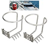 Pi-Pi 2pcs Stainless Steel Boat Ring Cup Drink Holder for Marine Yacht Truck RV Car Trailer Hardware for Universal Drinks Holders