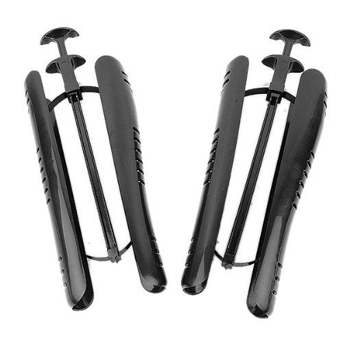 MagiDeal Pair Civière Support de Botte Arbre de Chaussures avec Poignee 12'' Noir