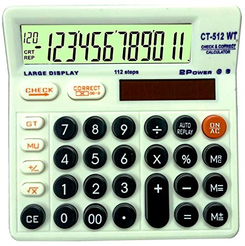 LYONIC CITHZEN CT-512WT Basic Calculator for Students, Office, Shops (White, Large Display) Made in India