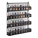 Oyydecor Spice Rack Organizer Wall Mounted 4-Tier Stackable Counter-top or Wall Mount Spice Rack Spice Shelf Storage Racks,Great for Kitchen Household Items,Bathroom and More