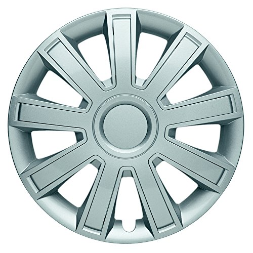 CM DESIGN Radkappen 14 Zoll Arrow Nylon Lux Silber Radzierblenden für Fast Jede handelsüblich Stahlfelge