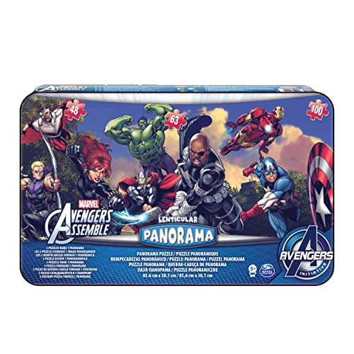 Spin Master Games- Avengers 3 Puzzle Panorama Lata, Colores Variados (6033222)