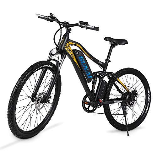 GUNAI Bicicleta Eléctrica Bicicleta de Montaña de 27,5 Pulgadas y 500W para Adultos con Batería de Litio de 48V 15Ah