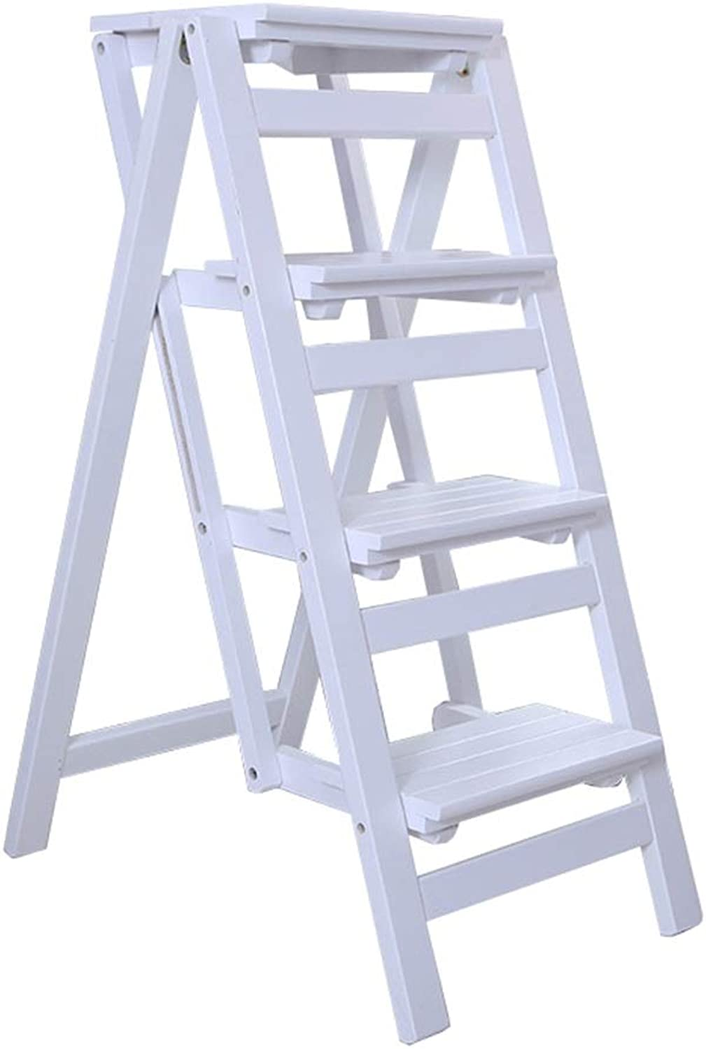 Folding Step Stool   Folding Ladder Wood for Adult   Ladder-Shaped Plant Rack   Display Rack Shelf   Multi-Function Chair