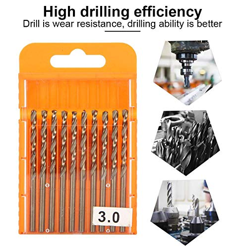 20 Pcs Drill Bit Set, High Speed Steel HSS Electric Drill Bit, high-Hardness Hole Opener Drilling Tool,for Gun Drill and Electric Drill,etc(3.0mm)