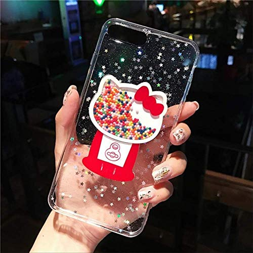 LIMITED Bling Glitter Star Clear Funda para teléfono para iPhone XS MAX 11 Pro XR X 7 8 6s Plus Hello Kitty Ice Cream Quicksand Contraportada para iPhone 6 Plus Style 1