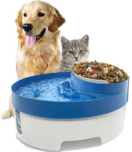 Dog and Cat Pet Water Fountain 3 in 1 with Noise Free Pump Dispenser