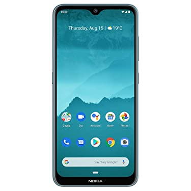 """Nokia 6.2 - Android 9.0 Pie - 64 GB - Triple Camera - Unlocked Smartphone (AT&T/T-Mobile/MetroPCS/Cricket/Mint) - 6.3"""" FHD+ HDR Screen - Ice Blue - U.S. Warranty"""