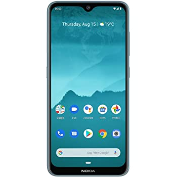 "Nokia 6.2 - Android 9.0 Pie - 64 GB - Triple Camera - Unlocked Smartphone (AT&T/T-Mobile/MetroPCS/Cricket/Mint) - 6.3"" FHD+ HDR Screen - Ice Blue - U.S. Warranty"