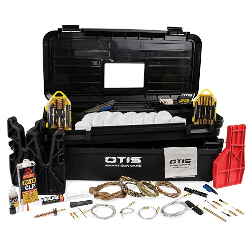Otis Technology All Caliber Elite Range Box with Universal Gun Cleaning Gear, Black