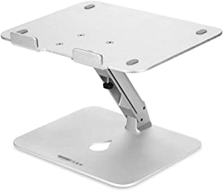 WZHZJ Aluminum Laptop Stand, Ergonomic Foldable Height Adjustable Laptop Riser for Desk, Bed Tray for Couch and Sofa