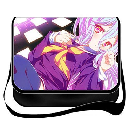 YOYOSHome Anime Kein Spiel Kein Leben Cosplay Messenger Bag Umhängetasche Handtasche Umhängetasche Rucksack Schultasche